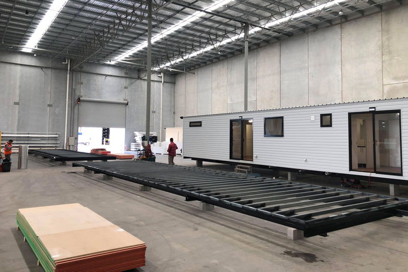 Two modular home bases being built from the ground up at the Perth factory