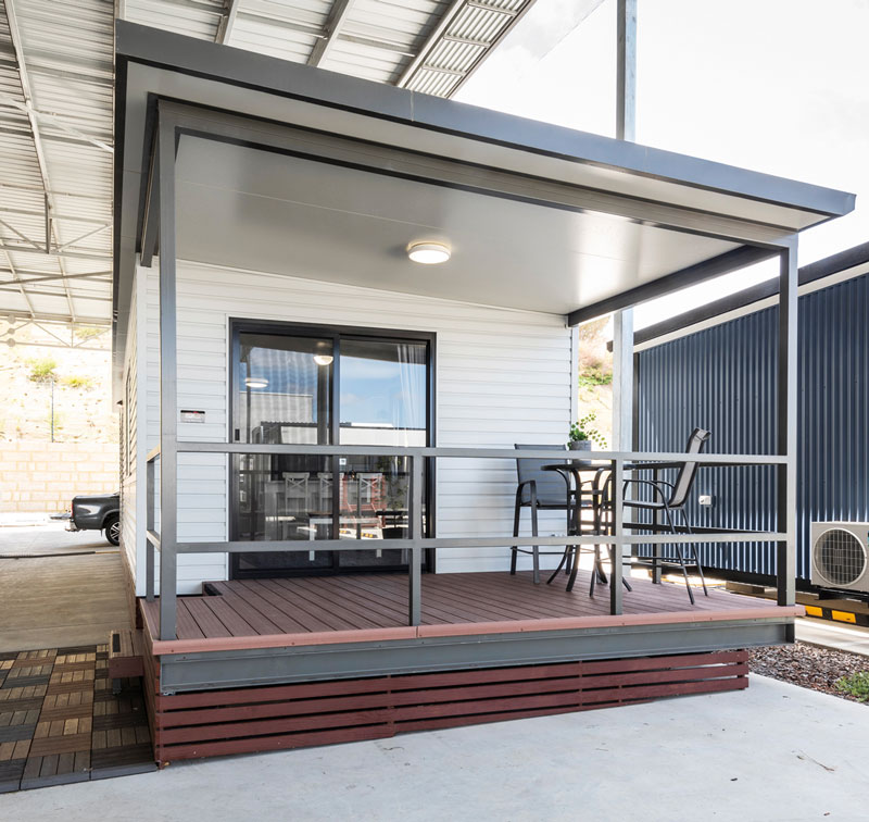 Front porch of a transportable home by Fox Modular Homes