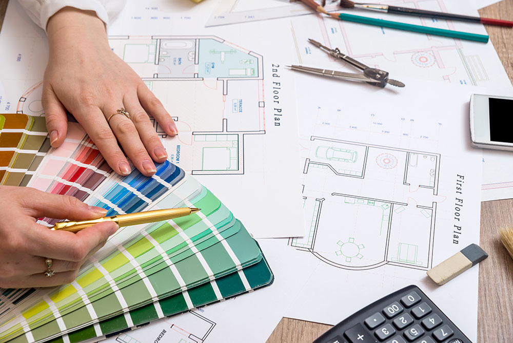 plans for a home renovation