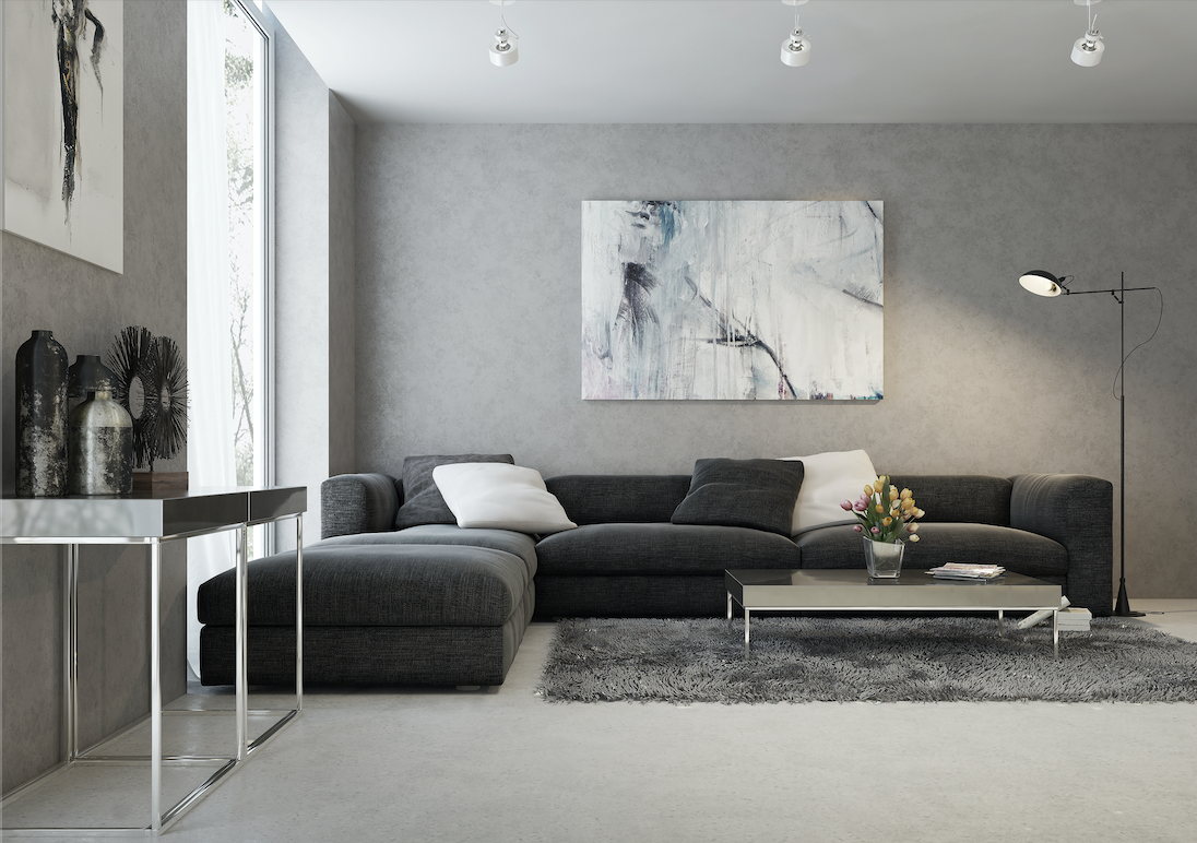 A modern design lounge room. Typically a complex period to illustrate.