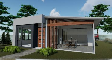 The render of a Modular home ready to be built.